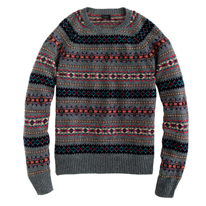 Lambswool Inverness Fair Isle sweater