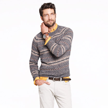 Lambswool Glencoe Fair Isle sweater