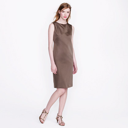 Collection duchesse satin shift dress