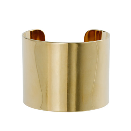 High-shine wide cuff