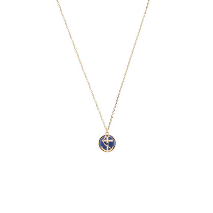 Anchor bead pendant necklace