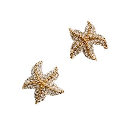 Starfish Earrings on Crystal Starfish Earrings   Earrings   Women S Jewelry   J Crew