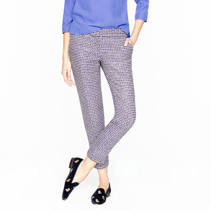 Tall café capri in navy tweed