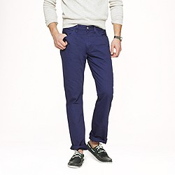 Slim-straight garment-dyed jean