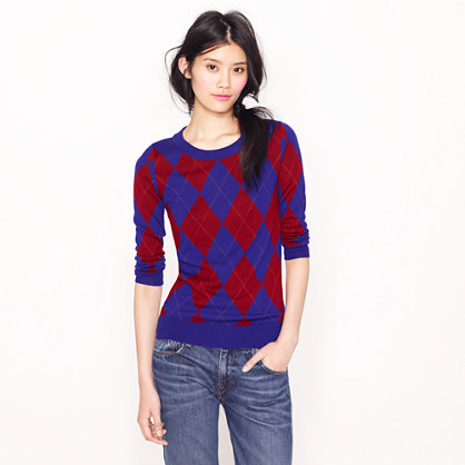 Tippi sweater in argyle
