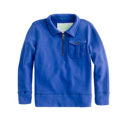 Boys' french terry half-zip sweatshirt