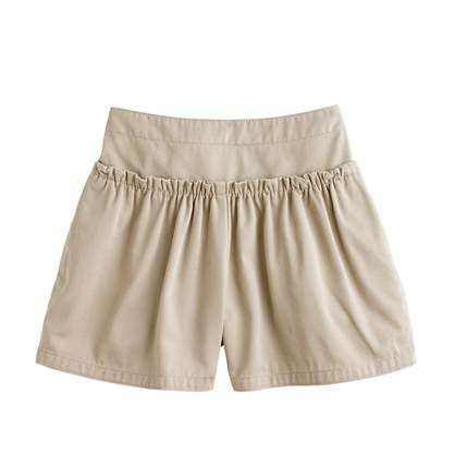 Girls' ruffle chino short