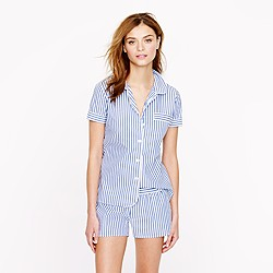 Vintage short pajama set in stripe