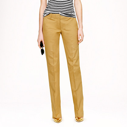 Petite café trouser in cotton