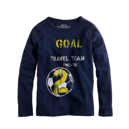 Boys' long-sleeve soccer tee