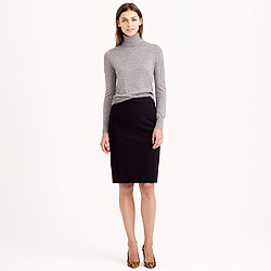 Petite pencil skirt in stretch wool