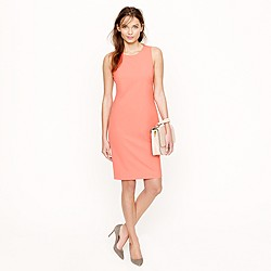 Petite sleeveless shift dress in stretch wool