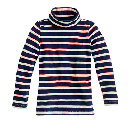 Girls' turtleneck in stripe