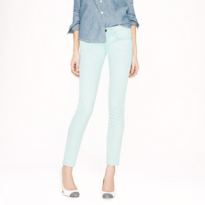 Tall toothpick jean in yarn-dyed denim