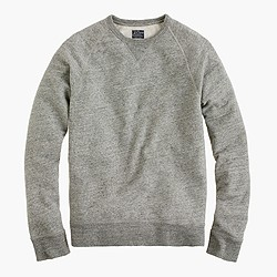 Sueded fleece sweatshirt