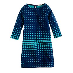 Girls' mini Jules dress in optic dot