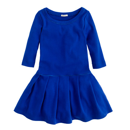 Girls' pleated city tee dress