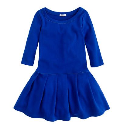 Girls' pleated city tee dress