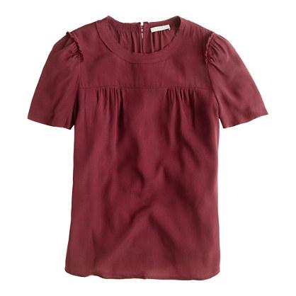 Short-sleeve crepe top