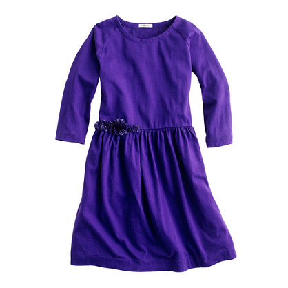 Girls' silk rosette dress