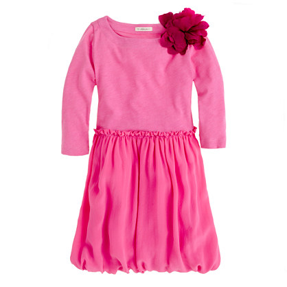 Girls' puff love dress