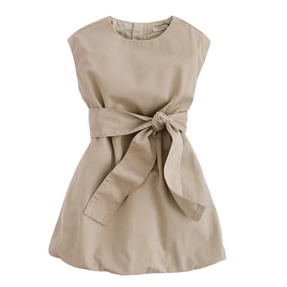 Girls' belted chino bubble dress
