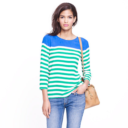 Top in colorblock stripe