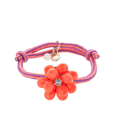 Girls' beaded rose friendship bracelet