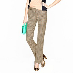 Stovepipe trouser in wool check