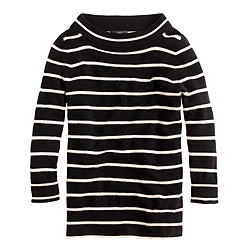 Collection cashmere bateau sweater in stripe