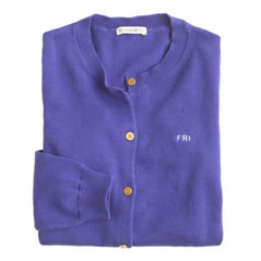 Girls' gold-button Caroline cardigan