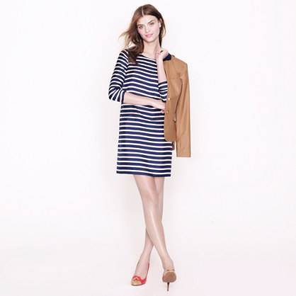 Jules dress in stripe silk twill