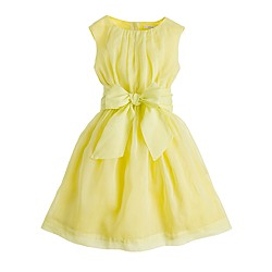 Girls' organdy bow dress