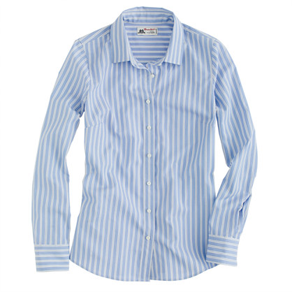 Perfect shirt in stripe Thomas Mason® fabric