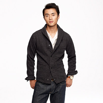 Wallace & Barnes shawl-collar cardigan