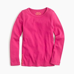 Girls' long-sleeve crewneck city tee