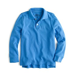 Boys' long-sleeve piqué polo