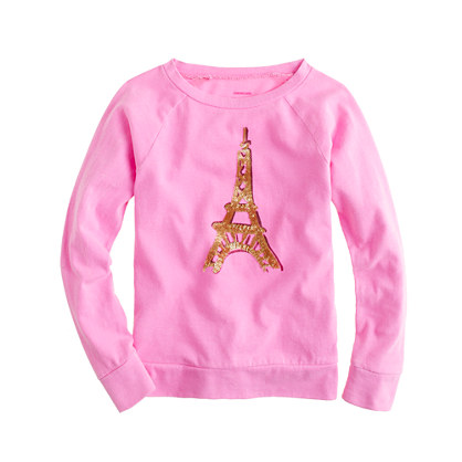 Girls' long-sleeve Eiffel Tower tee