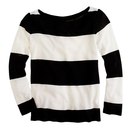 Rugby-stripe boatneck top