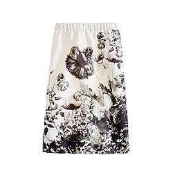 Collection pencil skirt in photo floral
