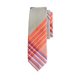 Boys' tie in spearmint plaid