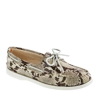 Sperry Top-Sider® Authentic Original 2-Eye Boat Shoe in Embossed Snake Print - flats - Women's shoes - J.Crew :  sperry topsider authentic original 2eye boat shoe in embossed snake print womens shoes flats