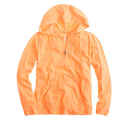 Boys' lightweight slub cotton hoodie