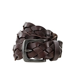 Boys' classic braided leather belt