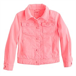 Girls' garment-dyed denim jacket