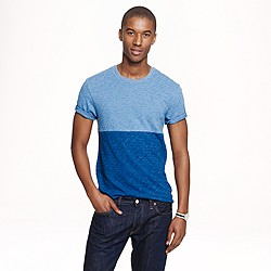 Colorblock indigo tee
