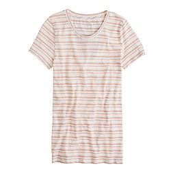 Vintage cotton tee in stripe