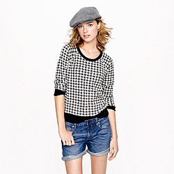Houndstooth sweatshirt