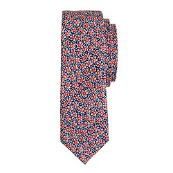 Boys' tie in red floral