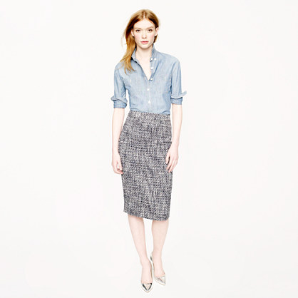 Pencil skirt in pepper tweed